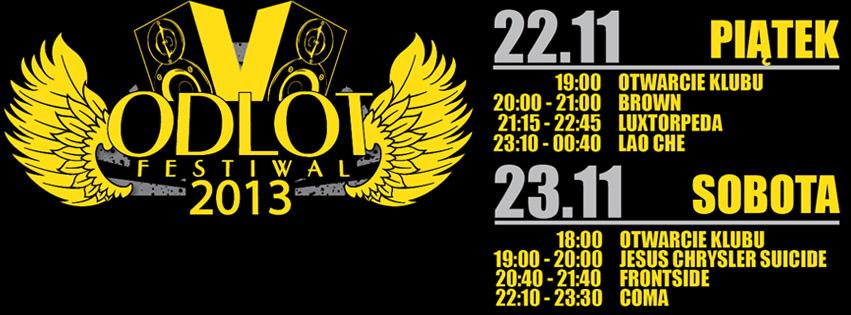 Odlot Festiwal 2013 godziny