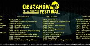 program Cieszanów Rock Festiwal 2014