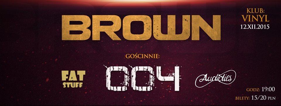 Koncert zespołu Brown w klubie Vinyl Rzeszów