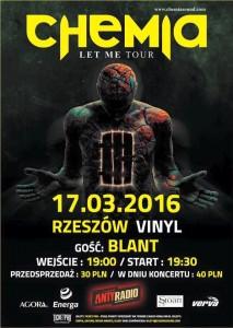 Koncerty w Rzeszowie. Koncert zespołu Chemia w klubie Vinyl.