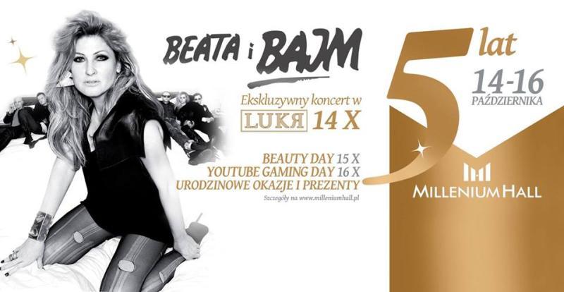 Beata i Bajm, koncert w Rzeszowie, Millenium Hall