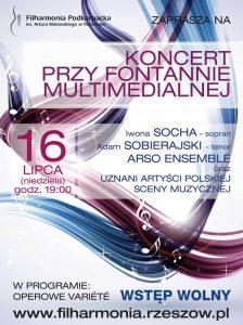 Koncert przy Fontannie Multimedialnej