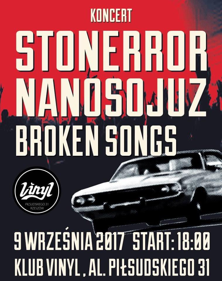 Stonerror, Nanosojuz, Broken Songs. Koncert Vinyl