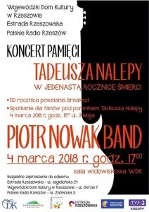 Piotr Nowak Band - koncert pamięci Tadeusza Nalepy