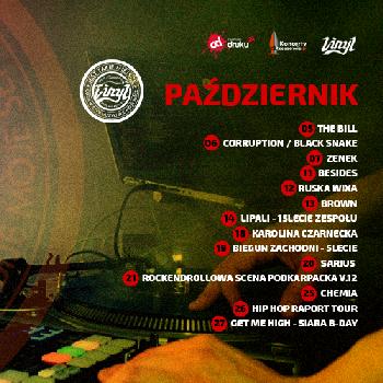 Październikowe koncerty w Vinylu