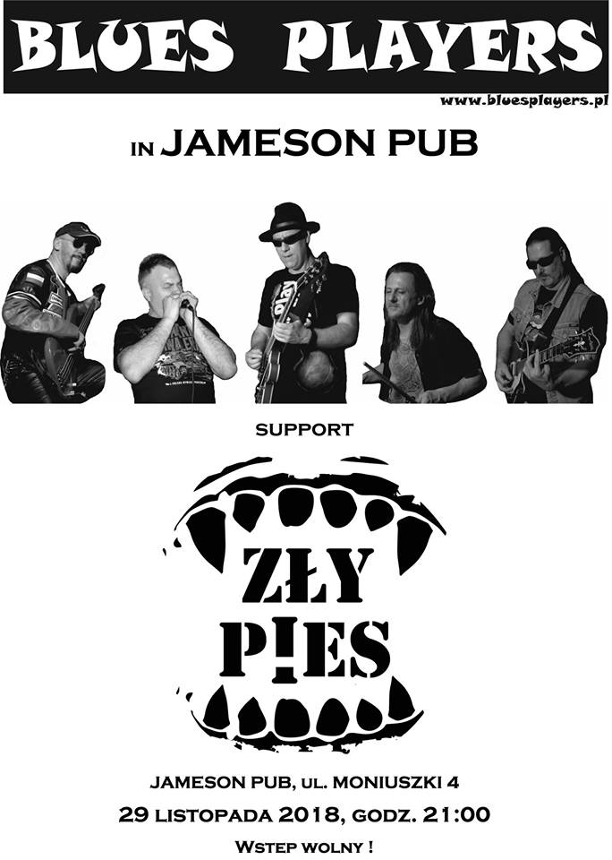 Blues Players i Zły piew w Jameson Pubie