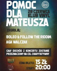 Koncert Aga Walczak, Boleo i Follow the Riddim