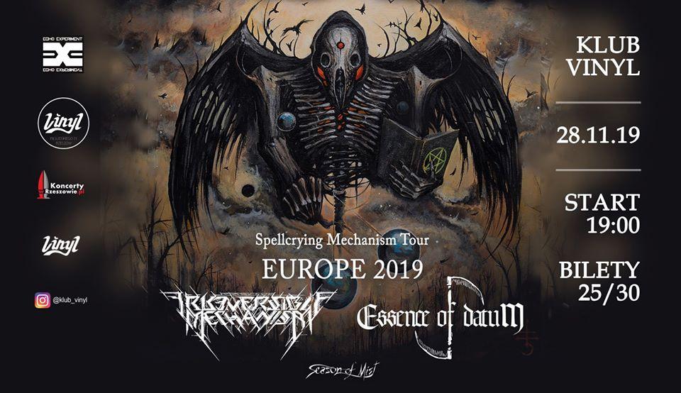 Zapraszamy na koncert dwóch zespołów z Białorusi Irreversible Mechanism i Essence of Datum. Koncert w dniu 28 listopada