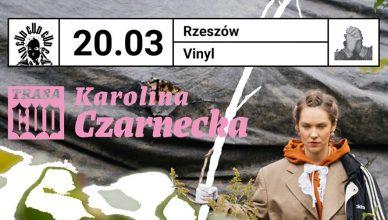 Karolina Czarnecka. Plakat promujący koncert w klubie Vinyl, Rzeszów 20 marca 2020