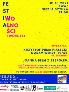 Druga edycja Festiwal Wolności Twórczej. Plakat